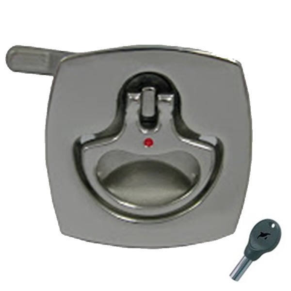 48.18 - Τετράγωνη Κλειδαριά Inox Χωνευτή Βελτιωμένη Με Κλειδί 51mm