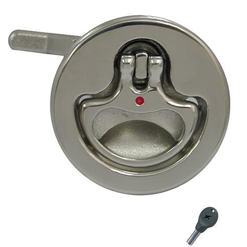 61.05 - Κλειδαριά Inox Χωνευτή Βελτιωμένη Κυκλική Με Κλειδί 51mm