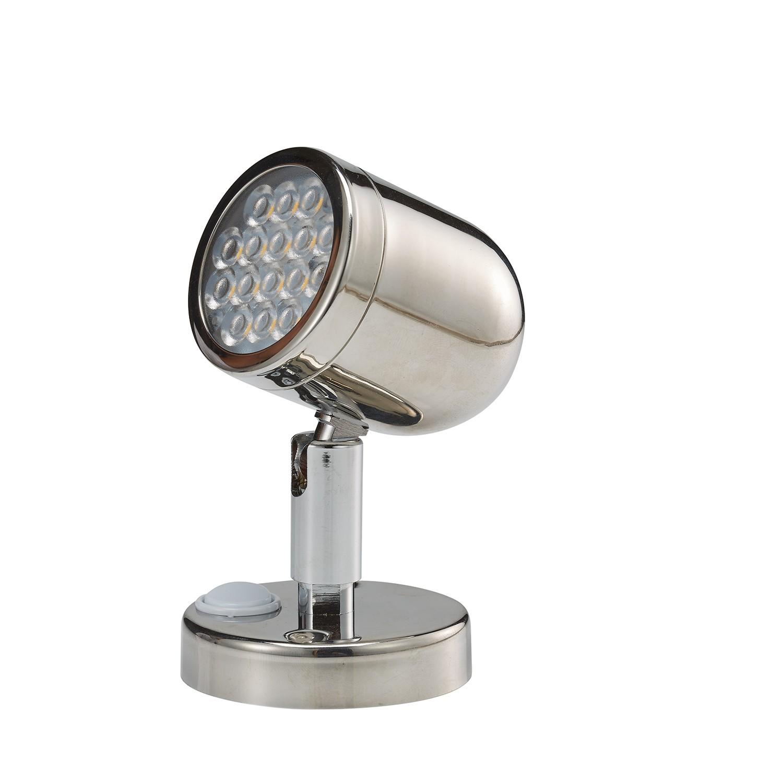 41 - Φως Ανάγνωσης LED 12VDC Ορειχάλκινο Λακαρισμένο