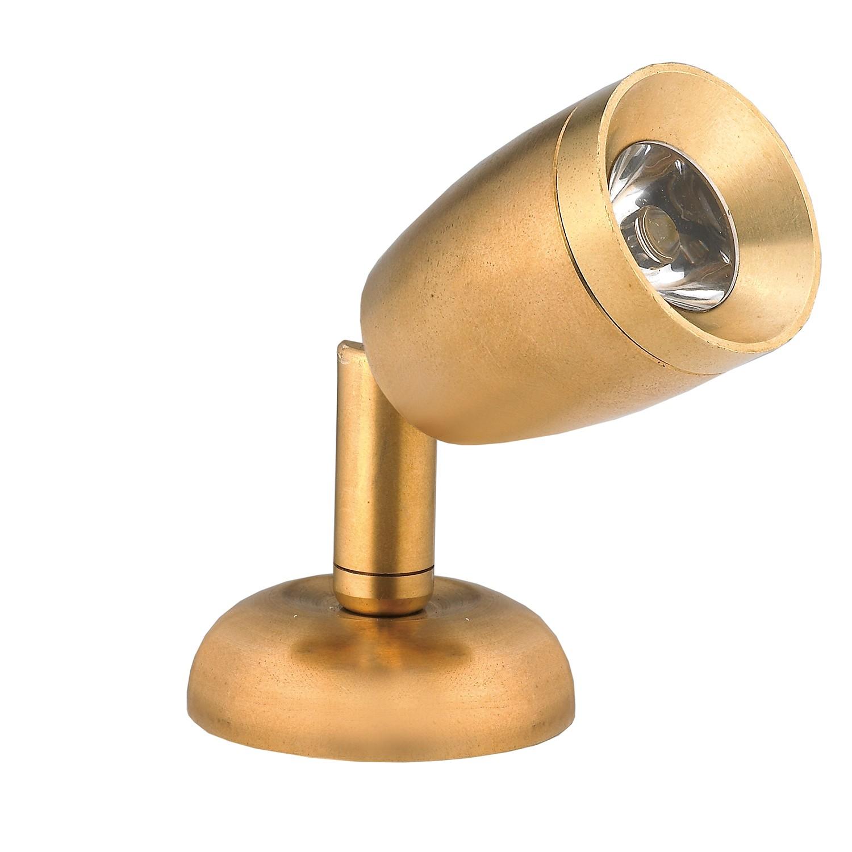 42.31 - Μίνι Φως Ανάγνωσης LED 8-30VDC Λευκό Θερμό Ορειχάλκινο Λακαρισμένο