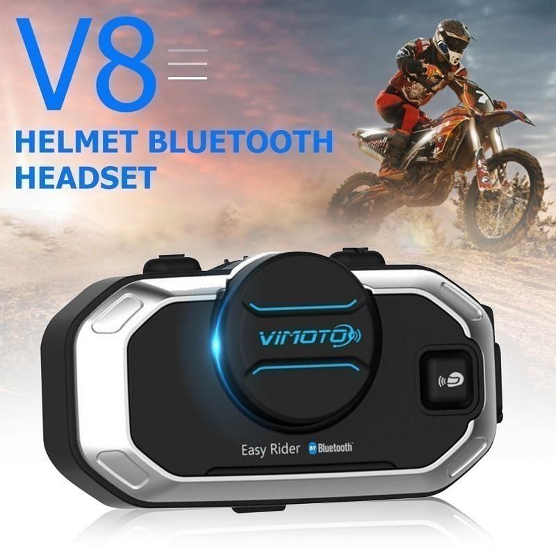 84.9 - Ενδοεπικοινωνία Bluetooth Κράνους Μηχανής VIMOTO V8  850mAh
