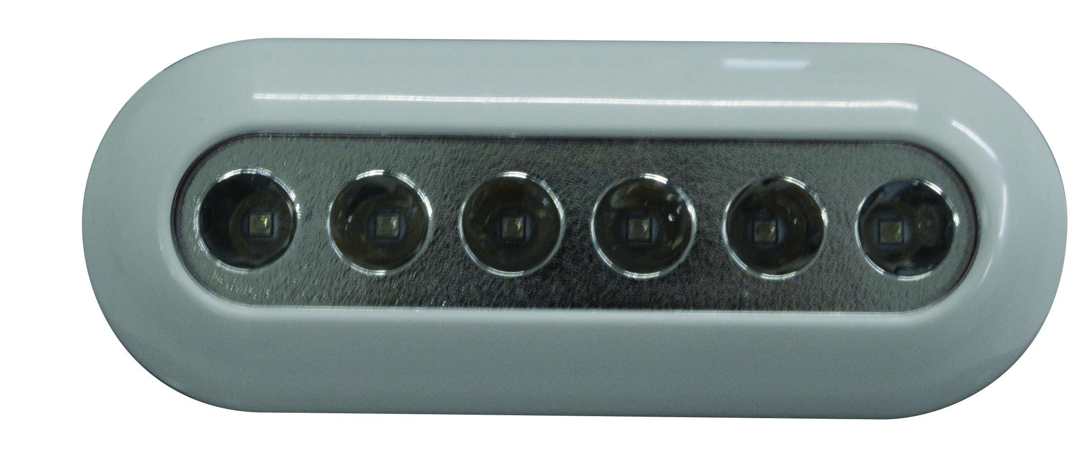 73.4 - Υποβρύχιο Φως Led Χρώμα Λευκό 12/24V 6 Led L160,7xW59,2xT22mm