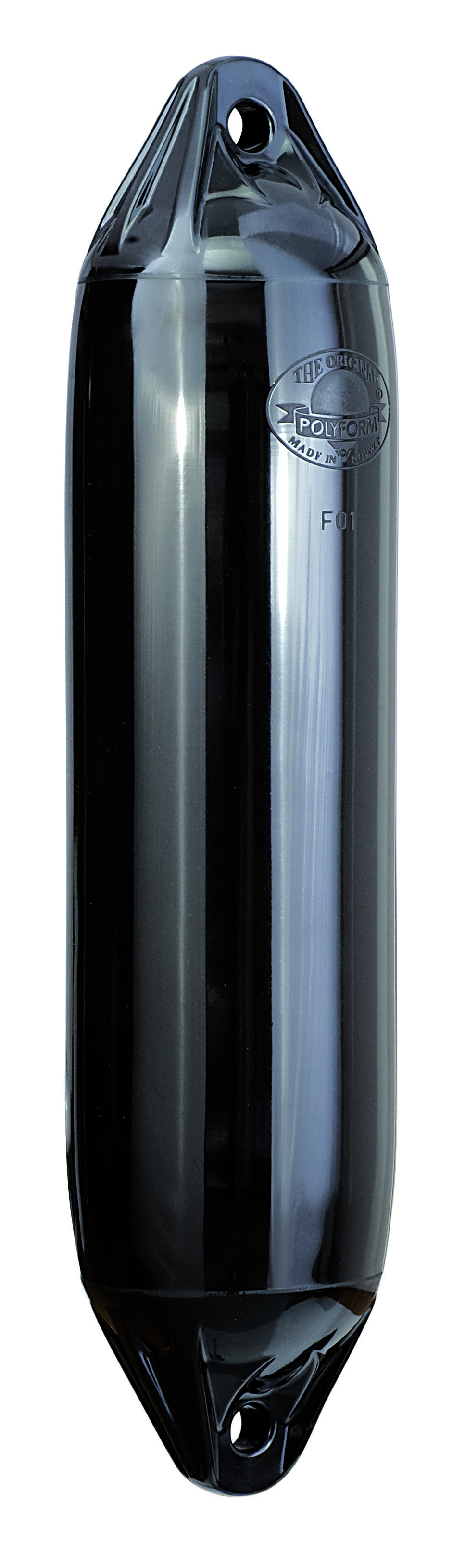 65.47 - Μπαλόνι Τύπου F-5 POLYFORM 29x77,5cm Με Διπλό Μάτι Χρώμα Μαύρο