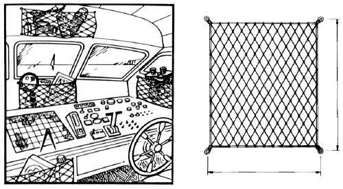 12.02 - Δίχτυ Ελαστικό Για Συγκράτηση Αντικειμένων 400 x 200mm