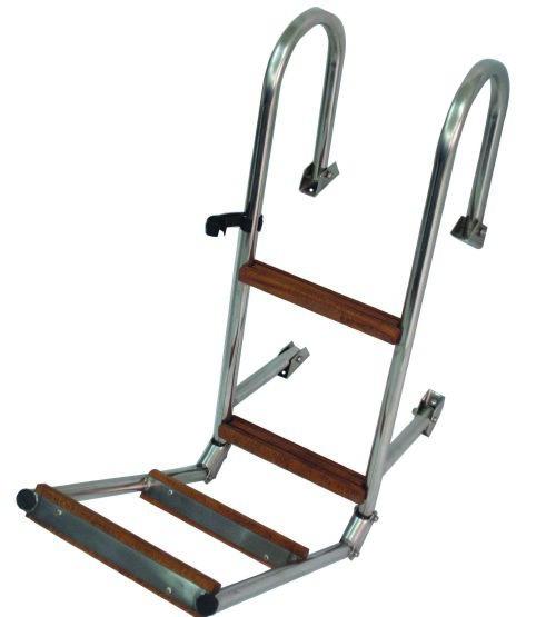 105.07 - Σκάλα Αναδιπλούμενη Κουπαστής Με 4 Σκαλοπάτια