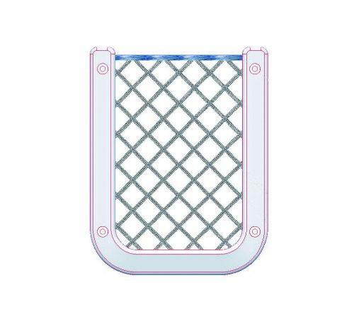 15.92 - Δίχτυ Ελαστικό Ως Θήκη Τηλεφώνου Λευκό
