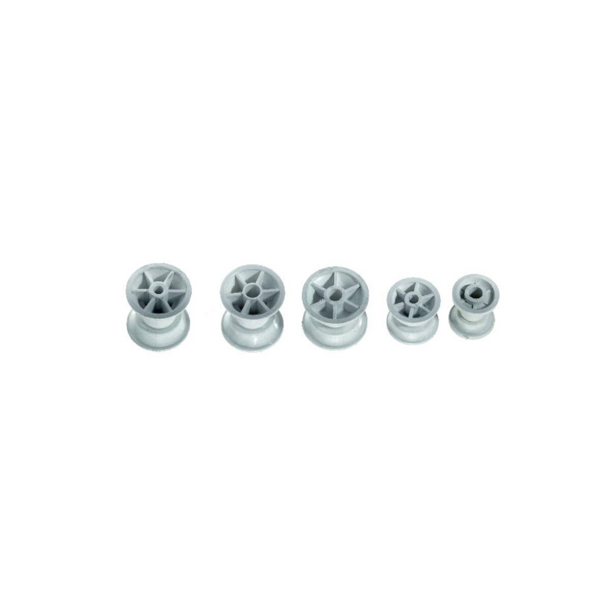 12.99 - Ροδάκι Πλαστικό Μήκους 52mm