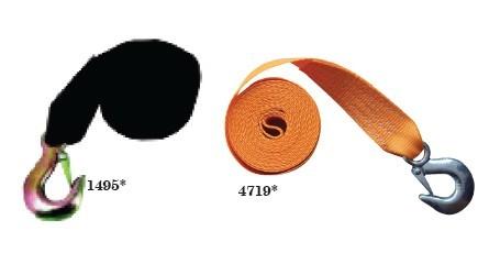14.53 - Ιμάντας Πολυεστερικός Τρέιλερ Με Γάντζο Γαλβανιζέ, Μήκος 4.5m και Όριο Θραύσης 2000kg Χρώμα Μαύρο