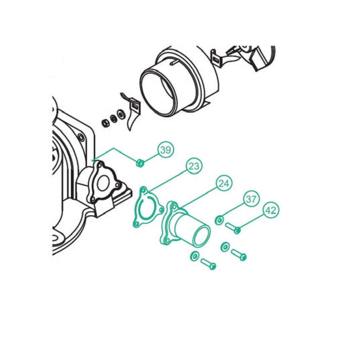 11.61 - Κιτ Σύνδεσης Για Βάση Τουαλέτας Για Κωδικούς 2284 & 2281