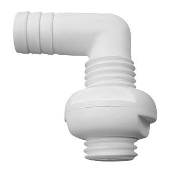 6.23 - Υδρορροή Γωνιακή Ø22mm Χρώμα Λευκό