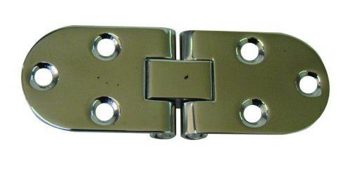 11.96 - Μεντεσέδες Inox 83mm χ 30mm χ 1,4mm - Σετ Των 2 Τεμαχίων