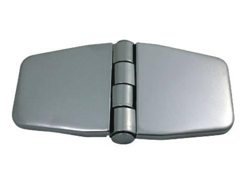 13.48 - Μεντεσέδες Inox Με Καπάκι 76mm x 37mm - Σετ Των 2 Τεμαχίων