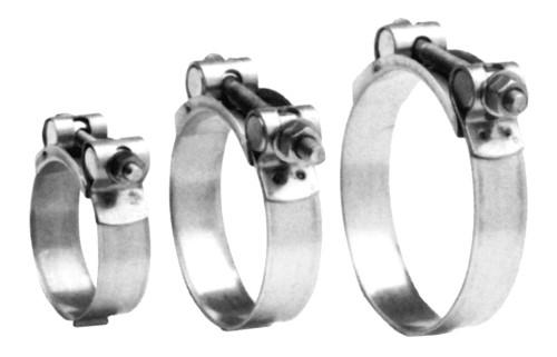 16.03 - Σφιγκτήρας Σωλήνα Inox Ενισχυμένος Διαμέτρου 104-112mm
