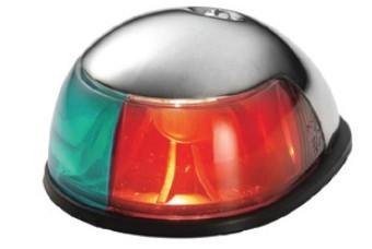 46.1 - Φανός Inox Δίχρωμος Ναυσιπλοΐας (Πράσινος-Κόκκινος) Για Σκάφη έως 20m