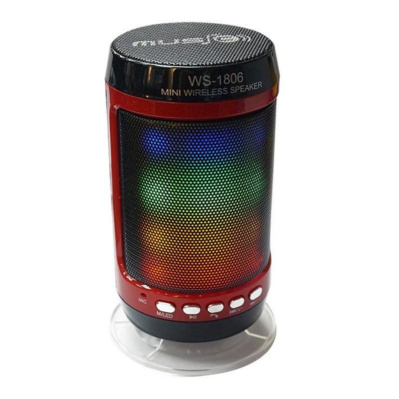 Μίνι Ασύρματο Ηχείο για Κινητά με Bluetooth και Φωτισμό LED WS-1806