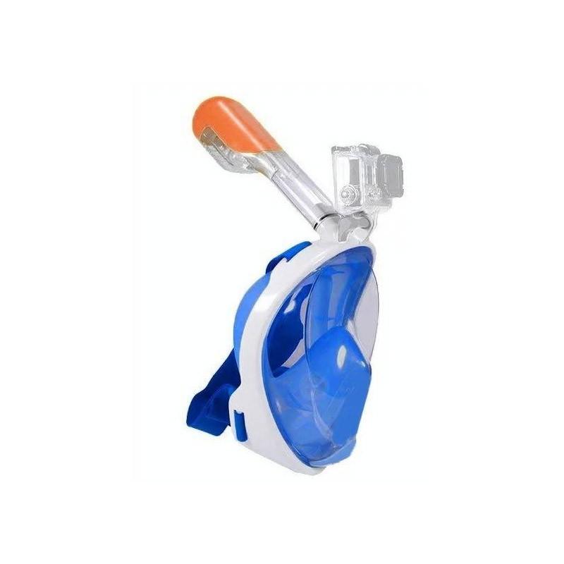Ολοπρόσωπη Μάσκα με Αναπνευστήρα και Βάση για Action Κάμερα Χρώματος Μπλε