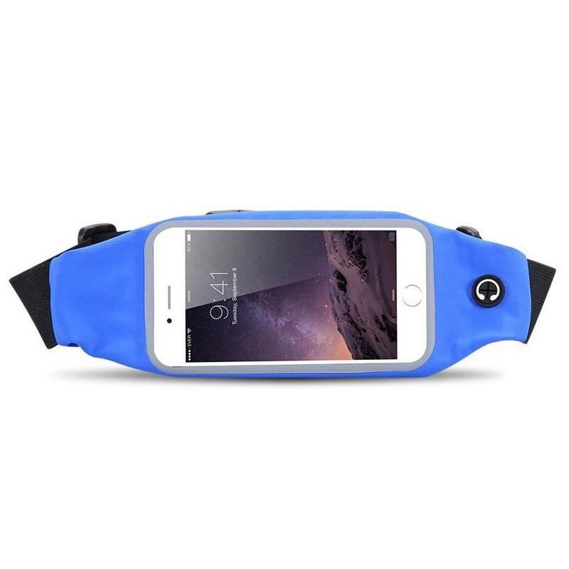 Αδιάβροχη Θήκη - Τσαντάκι Μέσης για Smartphones Χρώματος Μπλε