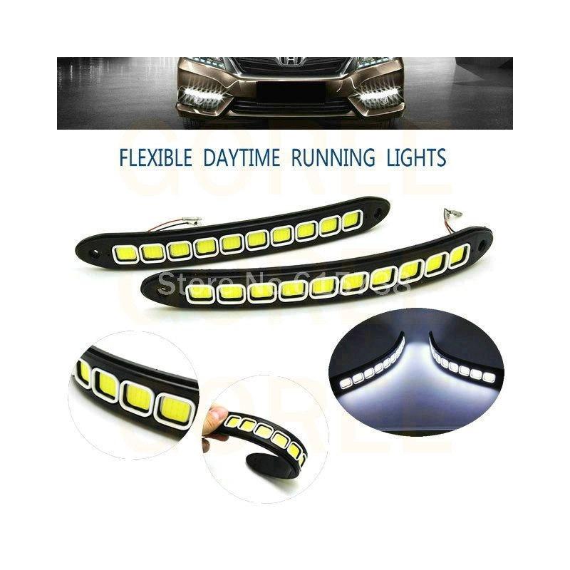 Εύκαμπτα Φώτα Ημέρας Αυτοκινήτου COB LED Σετ 2 Τεμαχίων