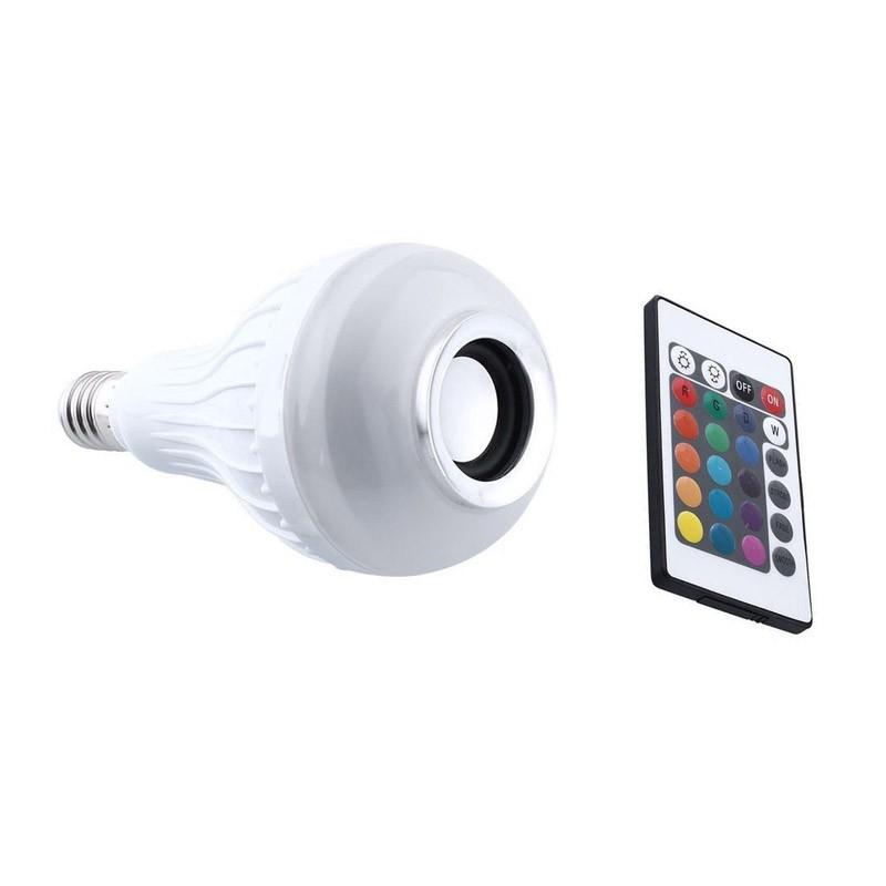 Λάμπα LED με Ηχείο Bluetooth και Τηλεχειριστήριο