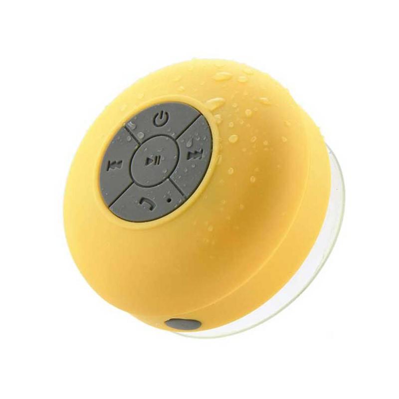 Αδιάβροχο Bluetooth Ηχείο με βεντούζα Χρώματος Κίτρινο