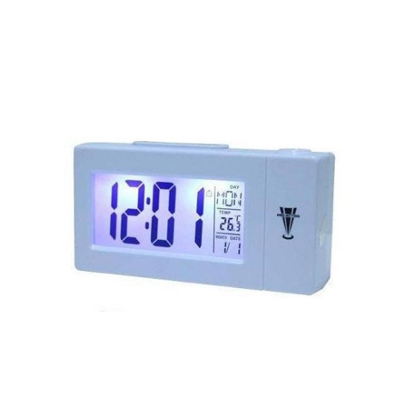 Επιτραπέζιο Ρολόι με Προβολέα LED και Αισθητήρα  Ήχου