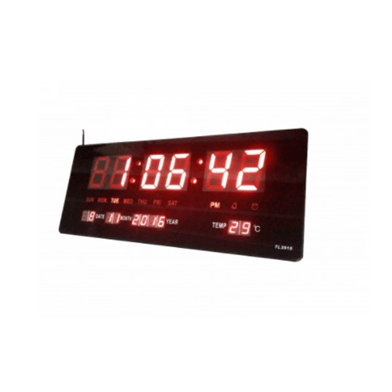 22.5 - Ψηφιακό Ρολόι-Πινακίδα LED με Θερμόμετρο και Ημερολόγιο JH-3615
