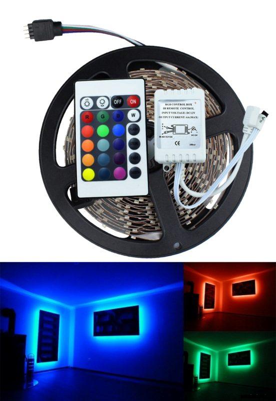 Εύκαμπτη Αδιάβροχη Ταινία 5 m LED με Τηλεχειριστήριο