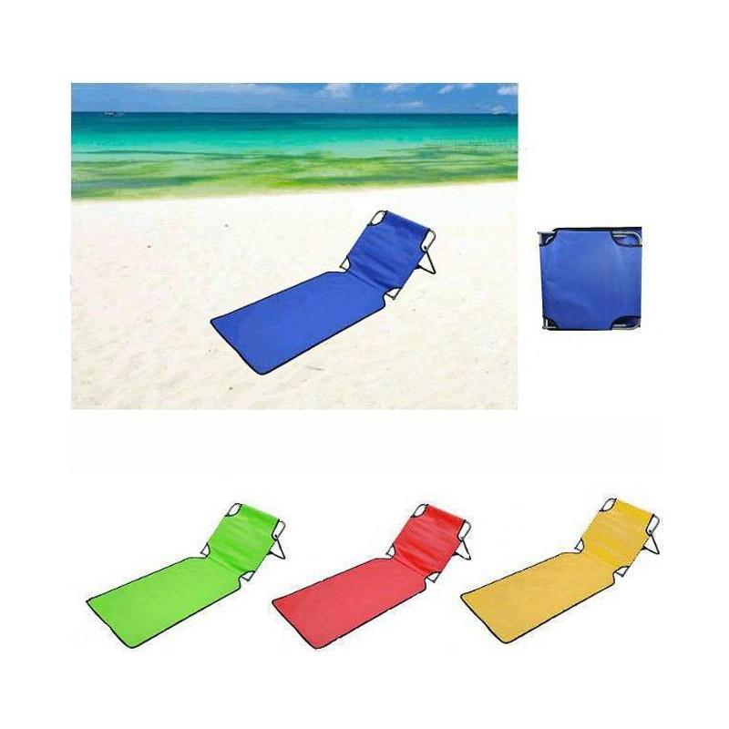 13.9 - Φορητή Πτυσσόμενη Ξαπλώστρα Παραλίας – Στρώμα Χρώματος Μπλε