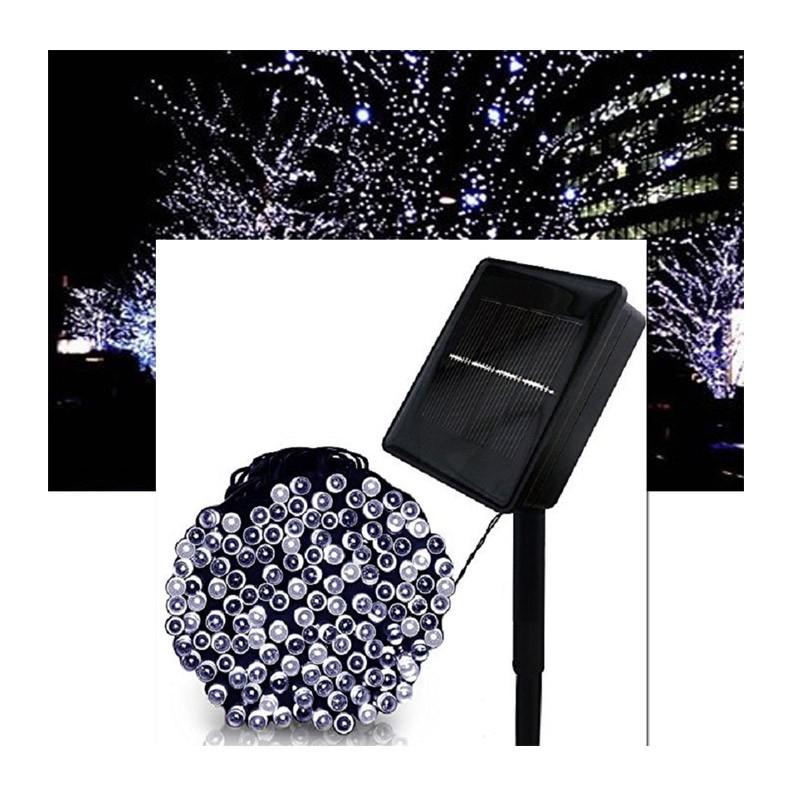Ηλιακά Χριστουγεννιάτικα Λαμπάκια Λευκά LED Εξωτερικού Χώρου – 200 Τεμάχια