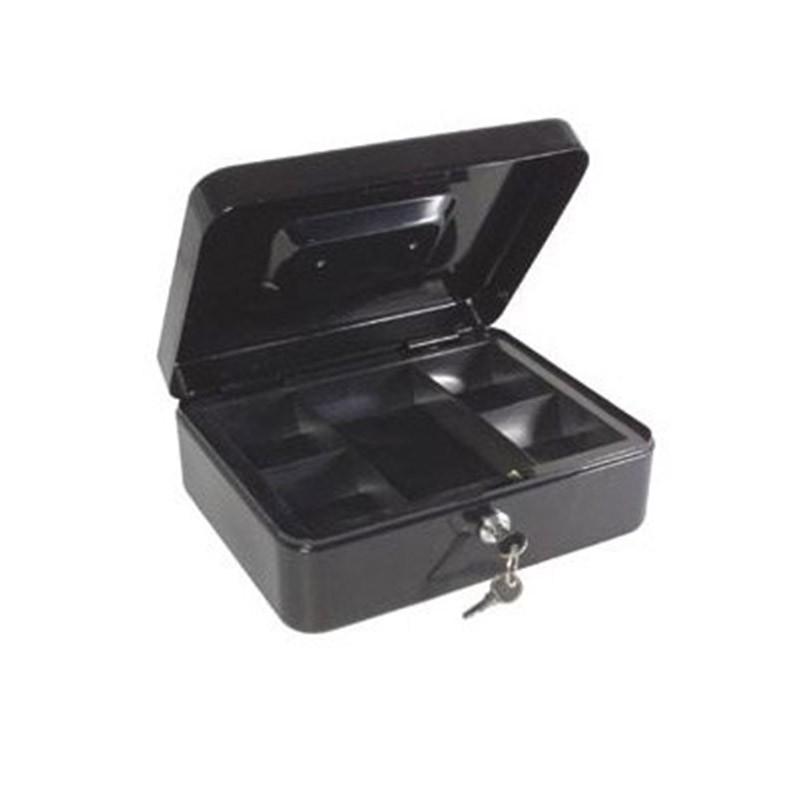 Μεταλλικό Κουτί Ταμείου με Κλειδαριά & Εργονομική Λαβή Χρώματος Μαύρο