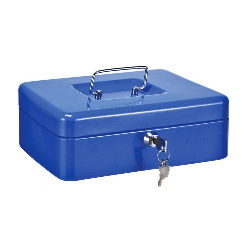 Μεταλλικό Κουτί Ταμείου με Κλειδαριά & Εργονομική Λαβή Χρώματος Μπλε