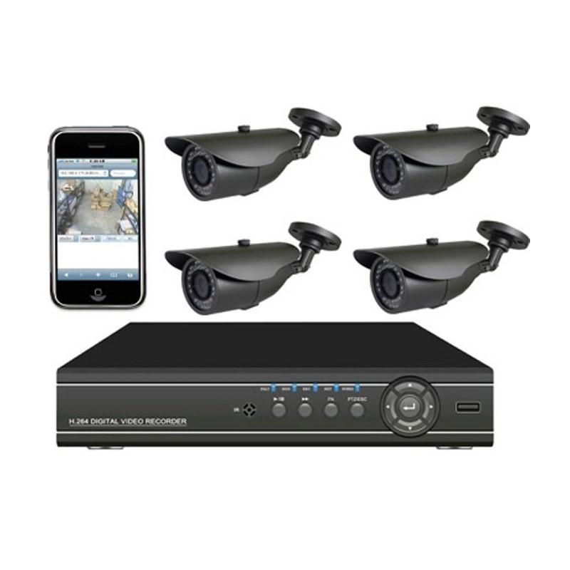 Σετ Εποπτείας και Καταγραφής Χώρου CCTV με 4 Κάμερες