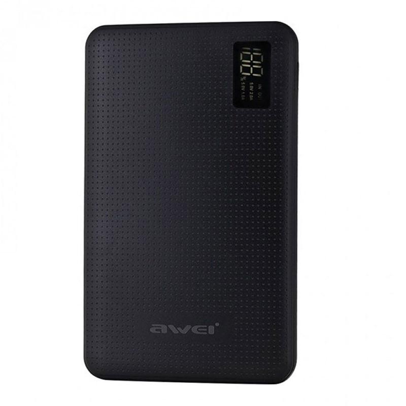 Power Bank με Οθόνη LCD Χρώματος Μαύρο AWEI P56K