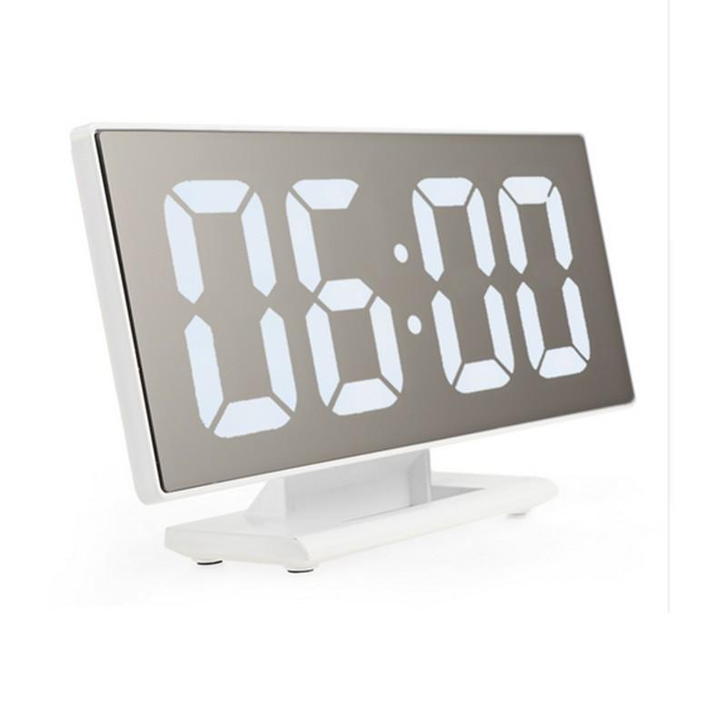 17.9 - Εντυπωσιακό Ψηφιακό Επιτραπέζιο Ρολόι/Ξυπνητήρι με Μεγάλη Οθόνη Καθρέφτη
