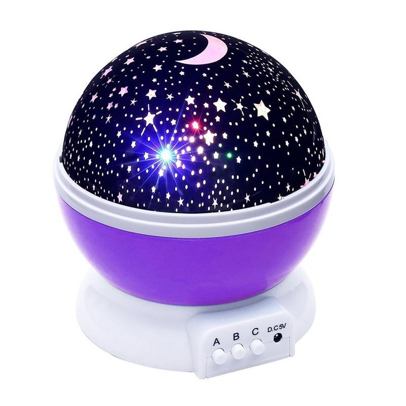 14.9 - Διακοσμητικός Προβολέας Δωματίου Χρώματος Μώβ – Star Master Plus Purple