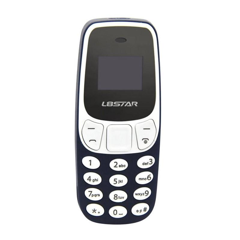 Ultra Mini Δίκαρτο Κινητό Τηλέφωνο με Bluetooth και MP3 Player Χρώματος Μπλε
