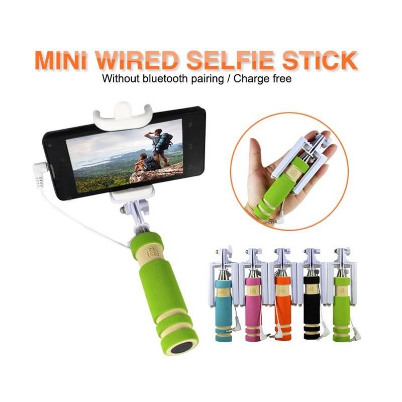 Ενσύρματο Selfie Stick 4 σε 1-Πορτοκαλί