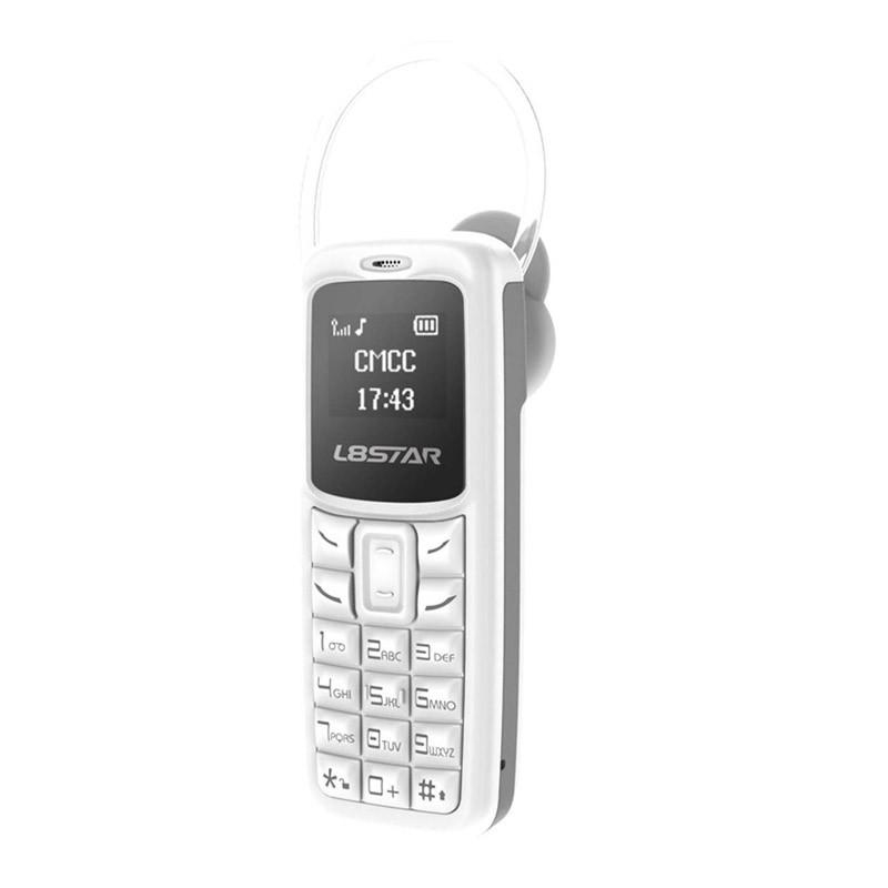 34.9 - Mini Κινητό Τηλέφωνο – Handsfree Χρώματος Άσπρο BM30