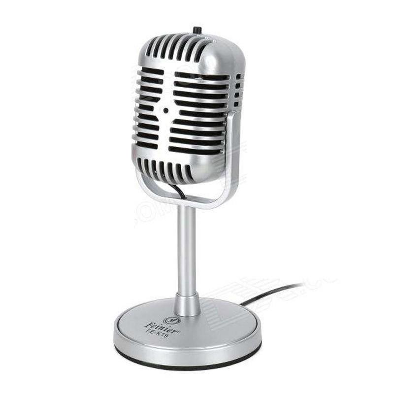Ρετρό Mικρόφωνο Ηχογραφήσεων για PC