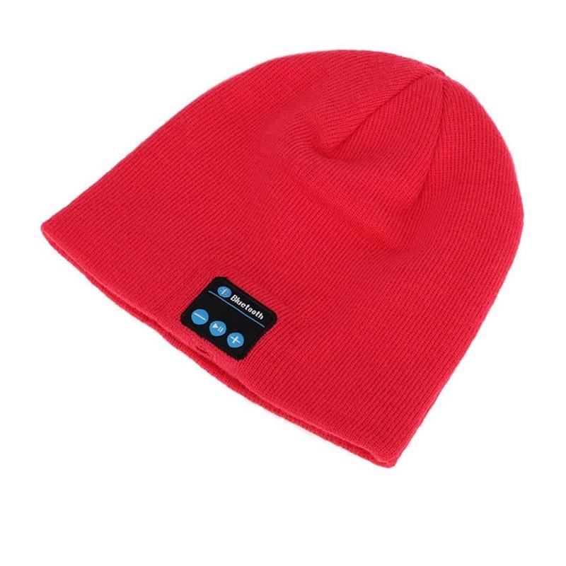Σκουφάκι με Ενσωματωμένα Ακουστικά & Μικρόφωνο Χρώματος Κόκκινο