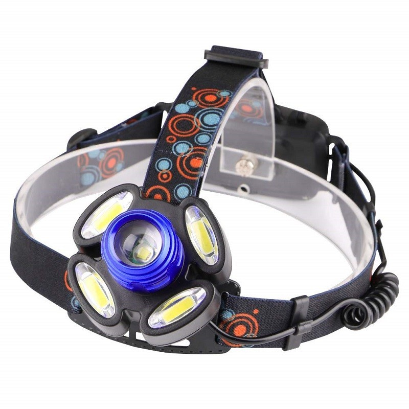 17.9 - Αδιάβροχος Φακός Κεφαλής / HeadLight Rotary Zoom T6 x 1 + LED x 4