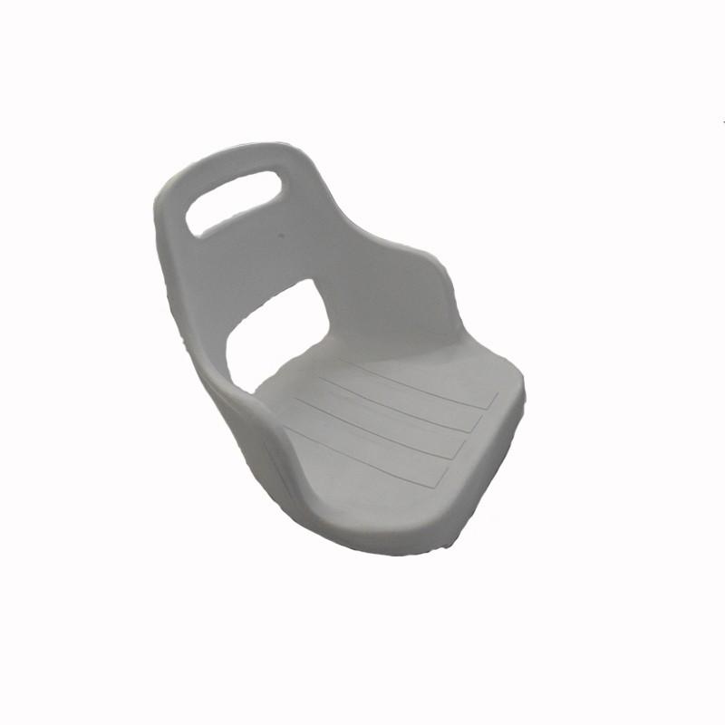 62.4 - Κάθισμα Πλαστικό Λευκό 51cm x 47cm x 45cm