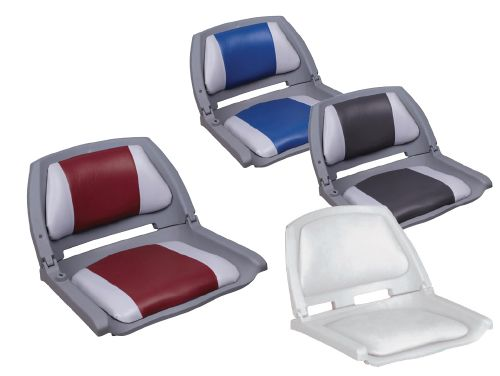 59.15 - Κάθισμα Αναδιπλούμενο Γκρι-Κόκκινο 52cm x 45,7cm x 36,8cm