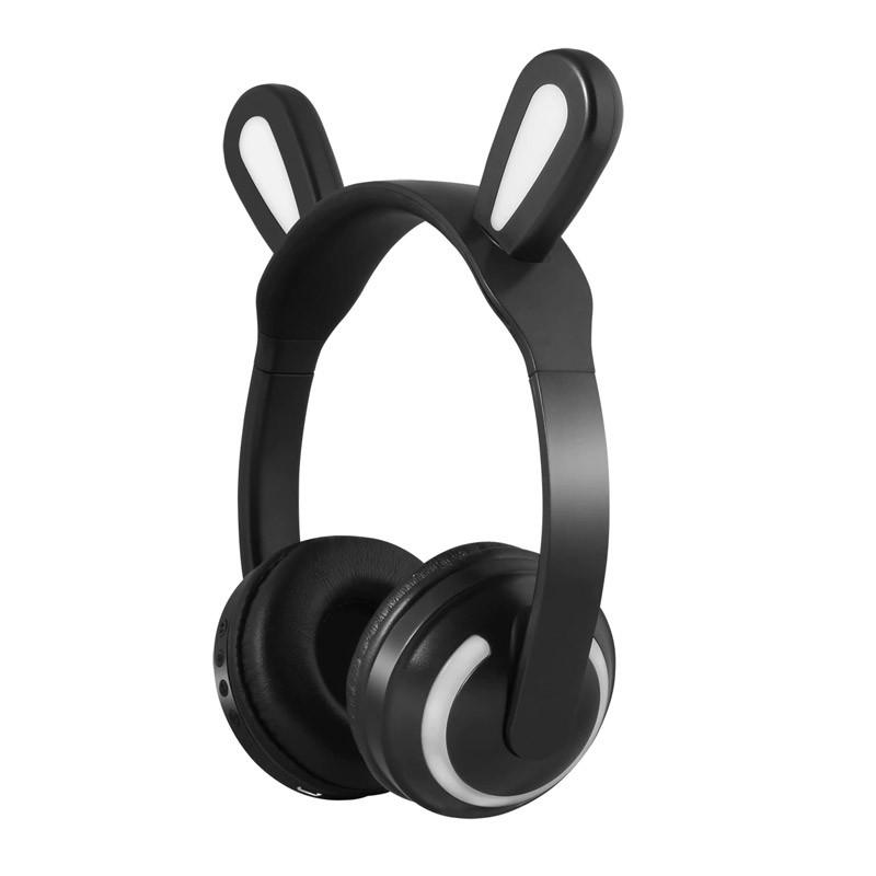 Ασύρματα Ακουστικά με Bluetooth & Φωτισμό Led Rabbit Ear