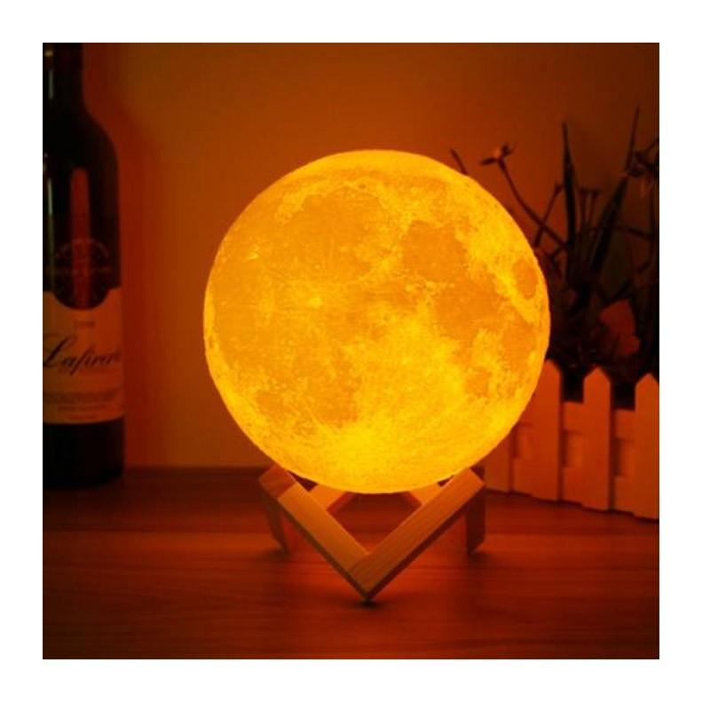 Ενσύρματη Λάμπα 3D σε Σχήμα Σελήνης
