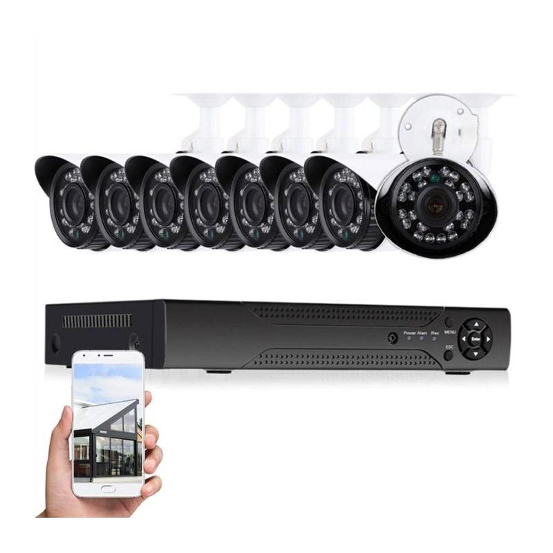 Πλήρες Έγχρωμο Σετ CCTV Καταγραφής με 8 Κάμερες Security Recording System