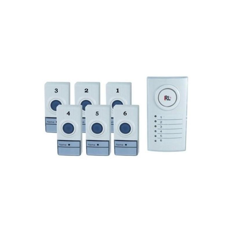 29.9 - Ασύρματο Σύστημα Ειδοποίησης με 6 Κουδούνια RL Six Zone
