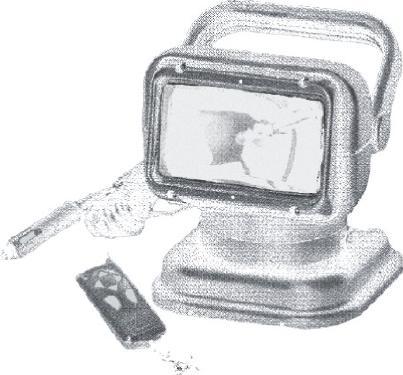 160.24 - Προβολέας Αδιάβροχος Περιστροφικός Με Μαγνητική Βάση Τηλεχειριζόμενος