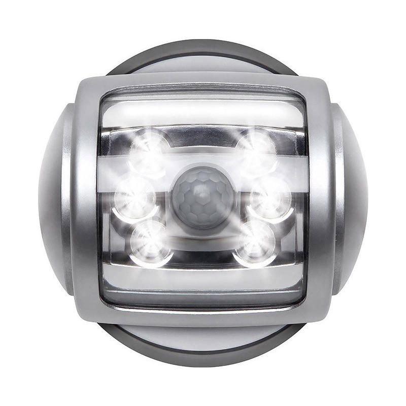 Ασύρματο Περιστρεφόμενο Φωτιστικό με LED & Ανιχνευτή Κίνησης