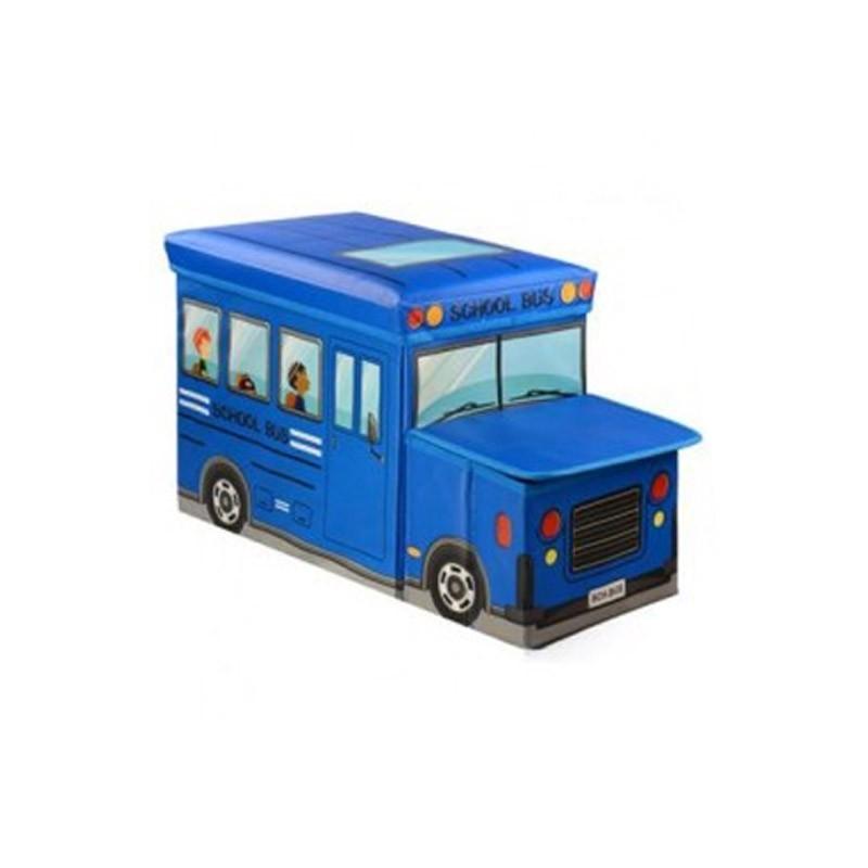 Παιδικό Κάθισμα και Κουτί Αποθήκευσης Λεωφορείο Χρώματος Μπλε